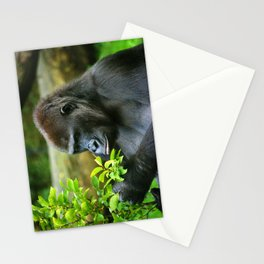 Thinker- gorilla  Stationery Cards
