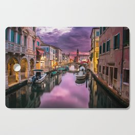 Venice Italy Canal at Sunset Photograph Cutting Board