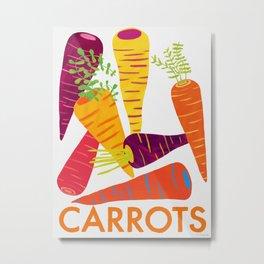 Eat Your Veggies - Carrots Metal Print