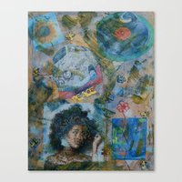 60s Canvas Prints featuring 60s by Freebird Artistry
