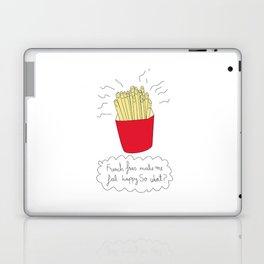 French fries make me feel happy. So what? Laptop & iPad Skin
