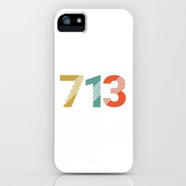 Vintage Retro Houston Texas 713 iPhone Case