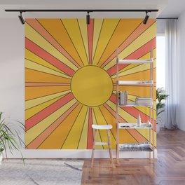 Sun rays Wall Mural