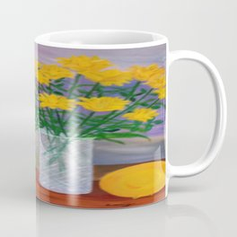 Yellow Flowers Make me Happy. Coffee Mug