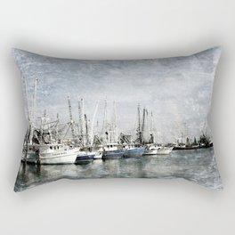 Shrimp Boats at the Harbor Rectangular Pillow