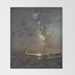 Lifeguard chair and the Milkyway Throw Blanket