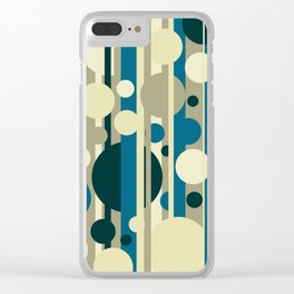 Stripes and circles color mode #5 Clear iPhone Case