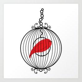 Caged Birdsong Art Print