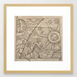 Flammarion Engraving Detail Framed Art Print
