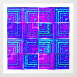 Checkered ultraviolet Art Print