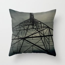 Power Lines Throw Pillow