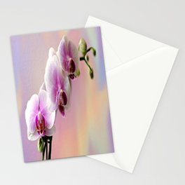 Pastel Rainbow Orchid Stationery Cards