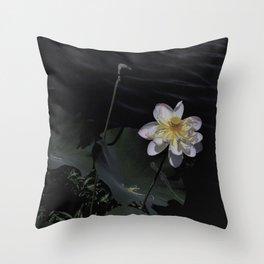 Midnight Lotus Throw Pillow