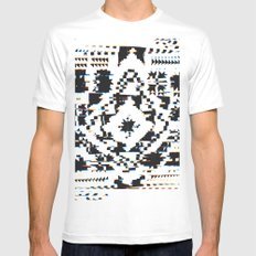Twisted Quilt Mens Fitted Tee MEDIUM White