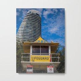 Lifeguard Hut Metal Print
