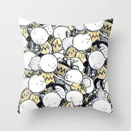 Schultz Nailed Childhood Throw Pillow