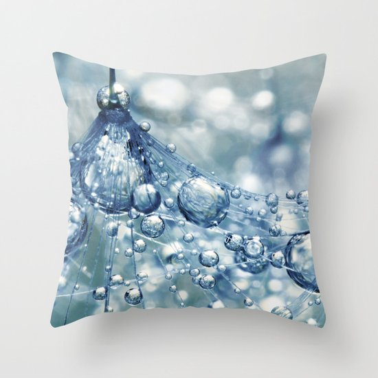 Sparkling Dandy in Blue Throw Pillow
