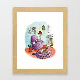 Raconte moi une histoire Framed Art Print