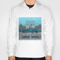paris Hoodies featuring Paris by Bekim ART