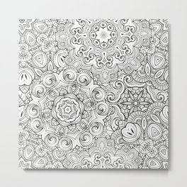Mandalas pattern Metal Print