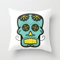calavera Throw Pillows featuring Calavera  by Cody Wilkes-Booth