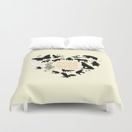 Love of the Animals Typography Duvet Cover