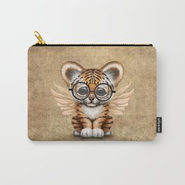 Tiger Cub with Fairy Wings Wearing Glasses Carry-All Pouch