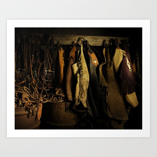 Cowboy Gear at Midnight Art Print