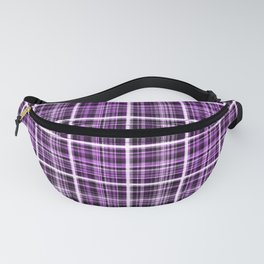 Plaid in lilac colors. Fanny Pack