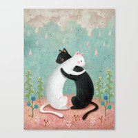 hug Canvas Prints featuring hug by bonnyart
