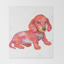Mini Dachshund  Throw Blanket