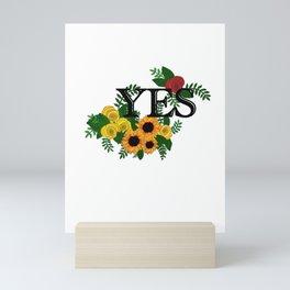 Floral yes Mini Art Print