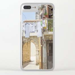 Laundry in Syracuse Clear iPhone Case