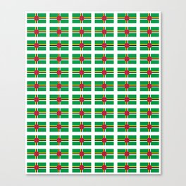 flag of dominica -dominique,dominican,dominiquais,dominiquaise,caribean,antilles Canvas Print