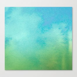 Blue & Green Watercolor Canvas Print