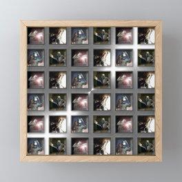 Welding Pattern Framed Mini Art Print