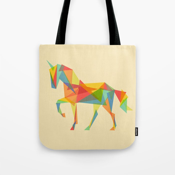Fractal Geometric Unicorn Tote Bag