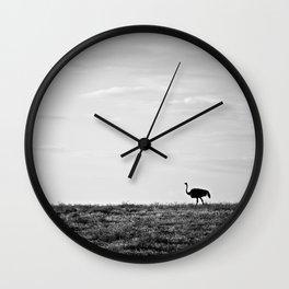 Lone Ostrich, Namibia Wall Clock