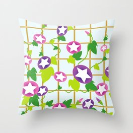 Vintage Japanese cool star pattern Throw Pillow