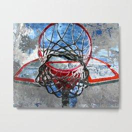 Basketball art swoosh vs 32 Metal Print