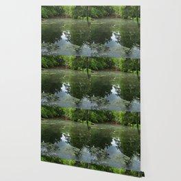 Magnolia Red Garden Bridge Wallpaper