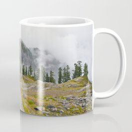 Alpine Ridgeline Trail Woods Forest Mountain Mist Washington Northwest Outdoors Nature Geology Coffee Mug