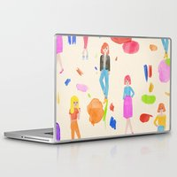 girls Laptop & iPad Skins featuring Girls by melissa chaib
