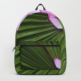 Pink Plumeria Flower Backpack