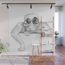 Leaning & Looking Wall Mural