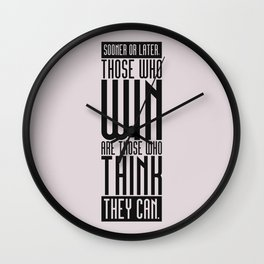 Lab No. 4 Sooner Or Later Richard Bach Motivational Quote Wall Clock