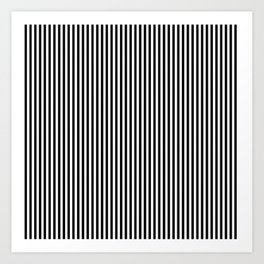 black and white screen stripes Art Print