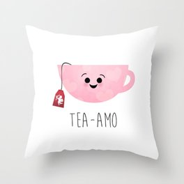 Tea-amo Throw Pillow