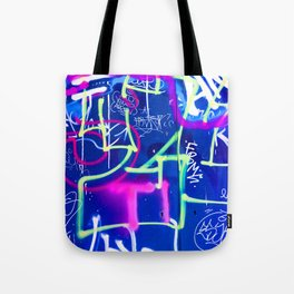 Blue Mood with Pink Language Tote Bag