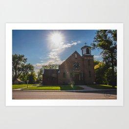 Holy Trinity Catholic Church, Fingal, North Dakota 2 Art Print
